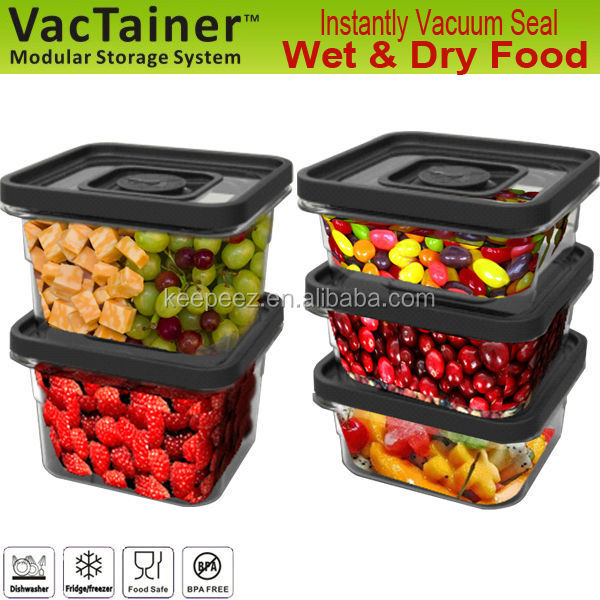 VacTainer vacuum sealed airtight food container