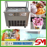 Efficient powerful quick frozen to sell fry ice cream cart