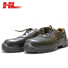 Black insulated industrial woodland safety shoes/steel toe safety shoes