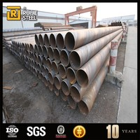 pvc coated rubber coated steel pipe , underground SSAW pipe spiral welded size 14'' sch 30 carbon steel pipe