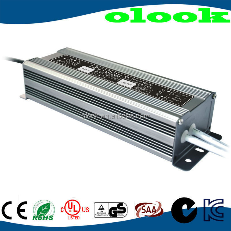 waterproof led power supply 12v 100w with UL fcc kcc tuv/gs approval