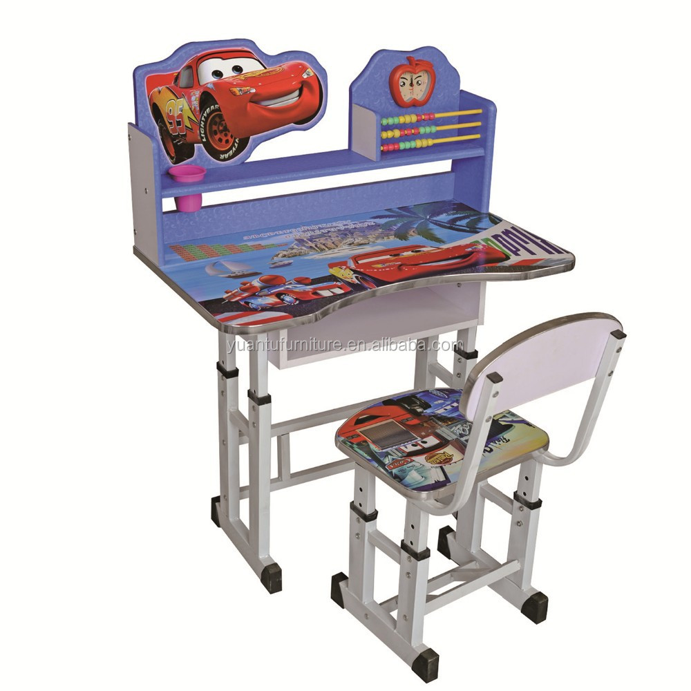 wooden children study adjustable table and chair sets ,XS-518