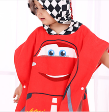 2016 New Products New Style Premium Cotton Cartoon Character Printed Baby/Child Hooded Bathrobe, Baby/Child Hooded Bath Towel