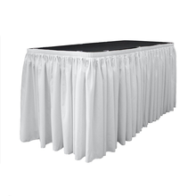 Party & Wedding & Banquet & Outdoor & Home & Hotel Use and Plain Dyed Pattern PEVA Plastic Table Skirt