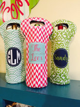 Wholesale Personalized Monogrammed Signature Wine Bottle Tote Bag