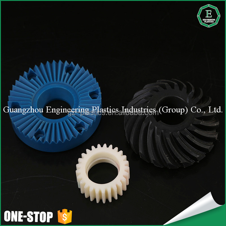plastics products PA6 nylon worm gear wheel