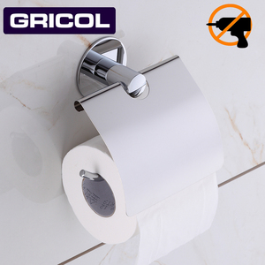 Gricol Toilet paper rack Bathroom towel rack Stainless steel Nail Free roll paper holder