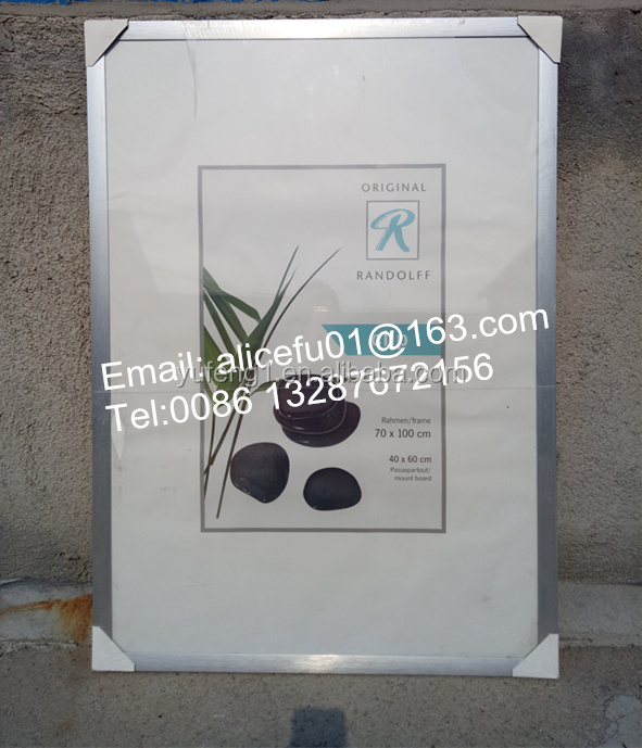 Bulk Wholesale Large Silver Brushed Advertising Aluminum Photo Picture <strong>Frame</strong> <strong>A0</strong> A1 A2 A3 A4