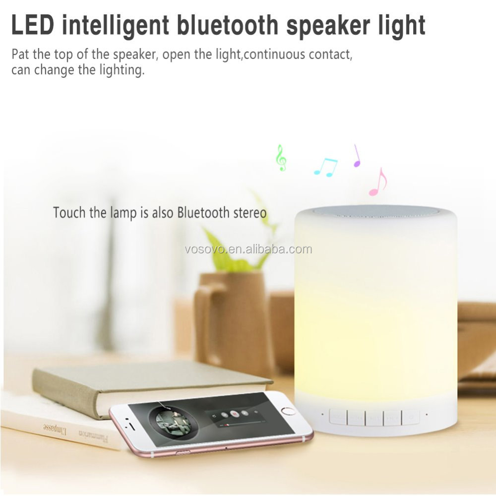 Christmas Smart house LED lightings 7 color Bluetooth speaker Table lamp Novelty hue light loudspeakers soundbar by Smartphone