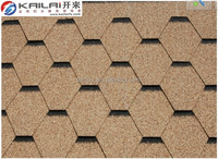 China high quality building material hexagonal mosaic asphalt roofing shingles