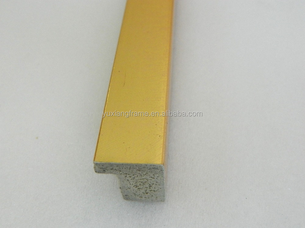 small size golden color plastic picture frame profiles mouldings China