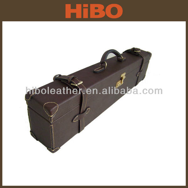 Hunting and shooting custom leather gun cases
