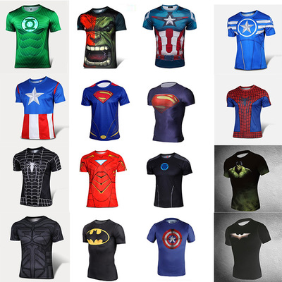 Best sell quick dry T-shirt fo men short Sleeve O-Neck Sports Tight T Shirts fast drying t-shirt