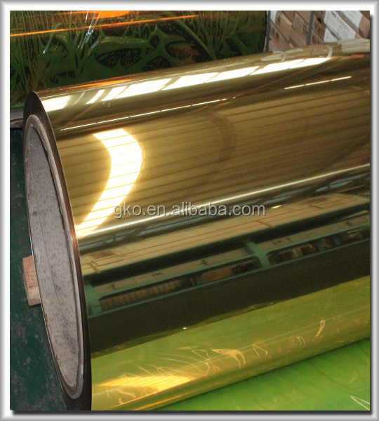 gold/silver mirror aluminum coil/strip for channel letter and decoration