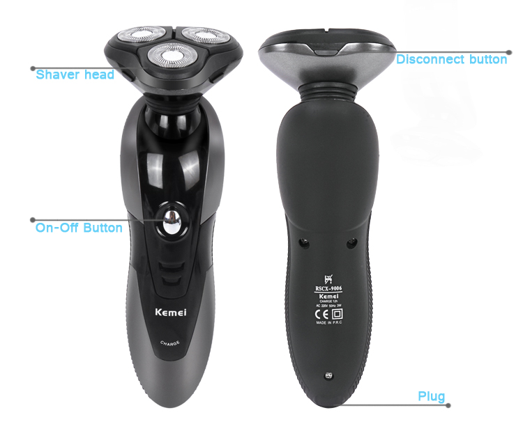 Kemei KM9006 Professional Men's 3 Head Electric Shaver