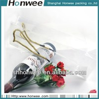 2014 fashional new design eva clear plastic wine bottle bags