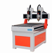 Daul head spindle cnc router machine 6090