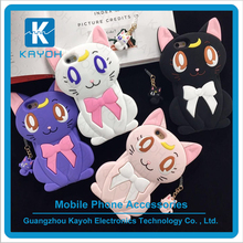[kayoh] cat shape silicone phone cases for iphone 6 unique phone cover