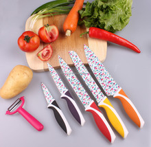 5PCS knife set -Stainless steel Non-stick coating with stand