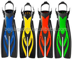 Professional silicone durable diving fins for swimming