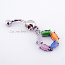 316LStainless Steel Fancy Belly Jewelry Hanging Belly Button Rings