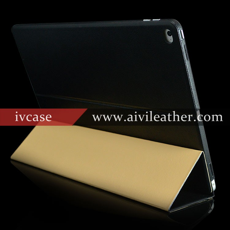 Multiangle Stand Folio Flip Cases For Leather IPad Pro Case Genuine Leather Cover