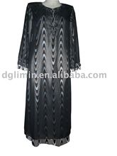 losse fit abaya black caftan arabic kaftan women tube robe from china manufacturer