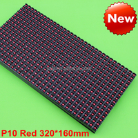 10mm Pixel Pitch P10 Red LED Display/red P10 Module red sign 320*160