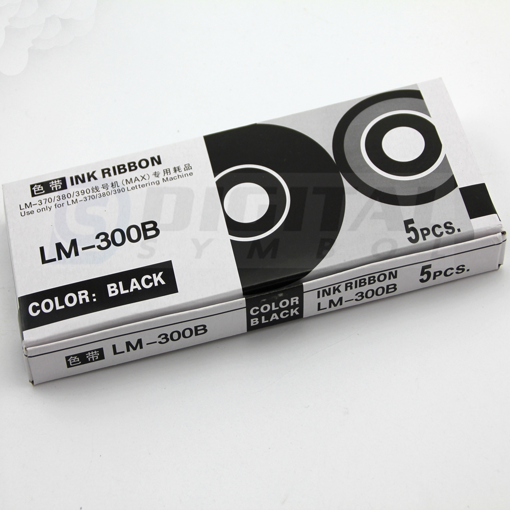 Professional Factory Supply ink ribbon LM-ir300bp compatible for MAX LETATWIN Cable Marker ID Printer LM-380E, LM-390A, LM-370A