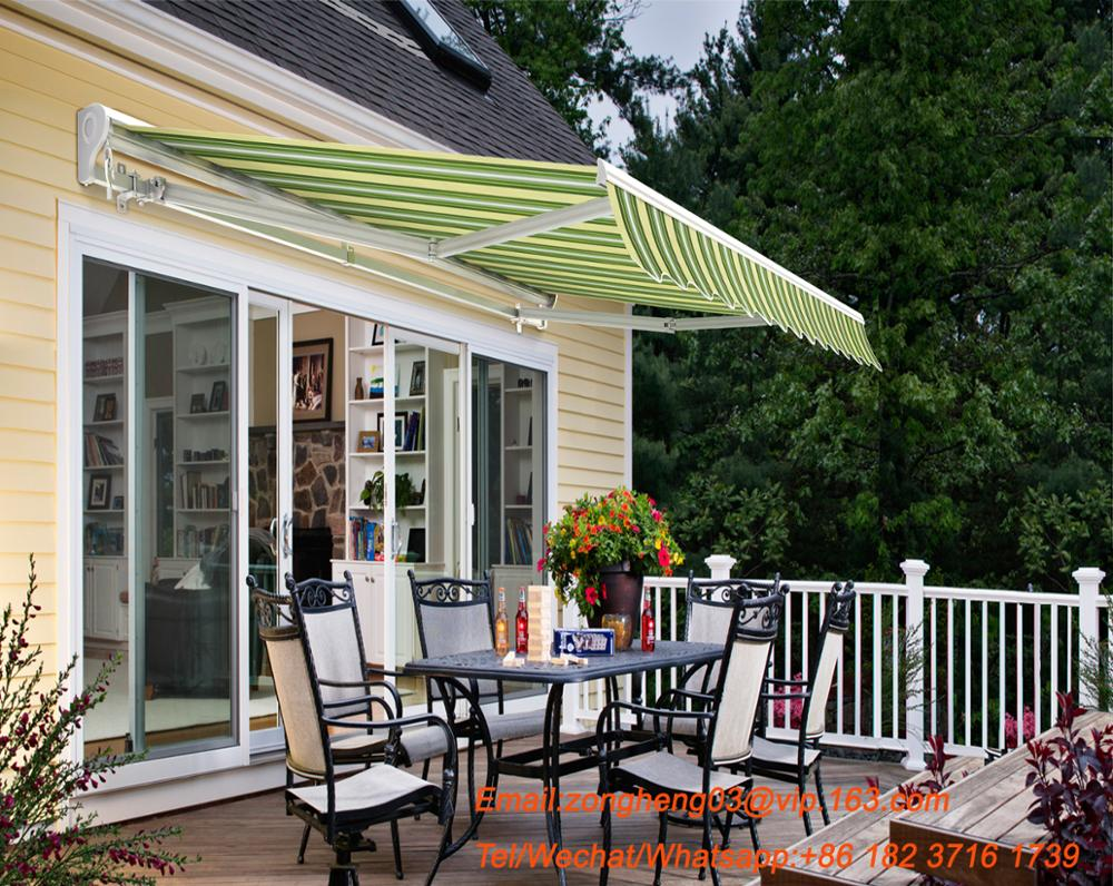 2017 Promotional half cassette retractable window awning with waterproof awning fabric