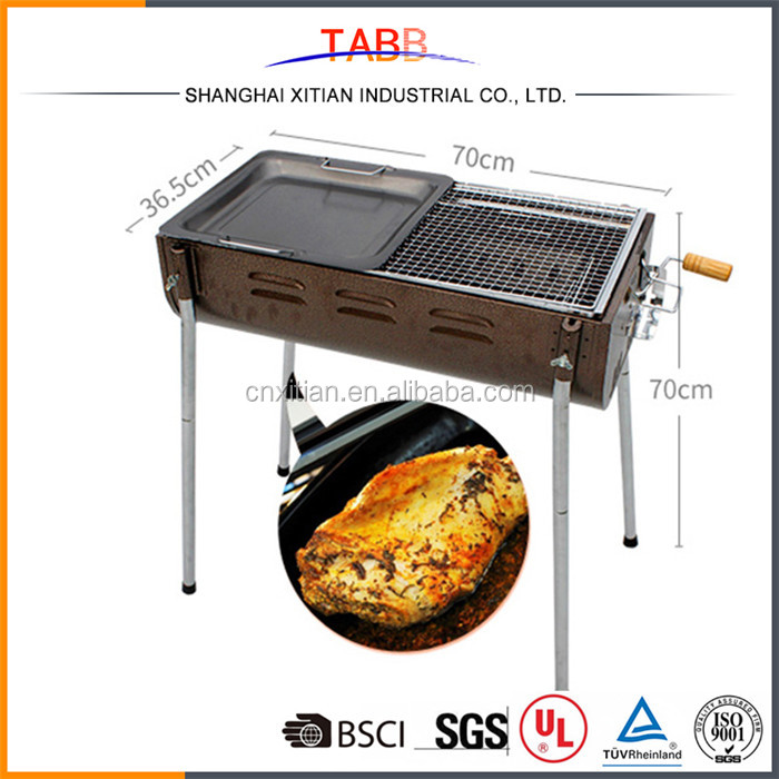 Unique design hot sale stainless steel charcoal bbq grill