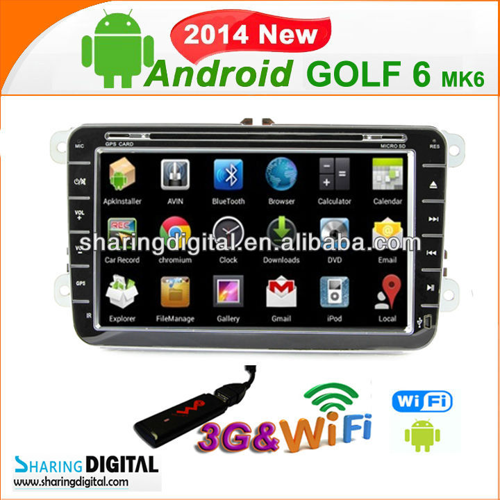 SharingDigital VWM-8698GDA for Volkswagen polo Jetta Bora Car DVD Multimedia with Russian menu