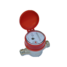 DN15mm single jet dry type of pulse hot water meter with ISO 4064 standard