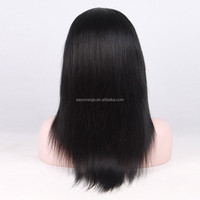 indian hair 22 inch front yaki straight lace wig