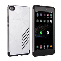 Two in one pc tpu Armor silver color phone cases for Huawei P8 Fashionable Back Cover