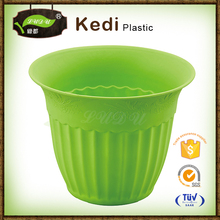 Save 10% free sample premium ecofriendly Home garden decor cheap color stackable 3 petal plastic flower pots