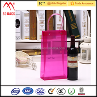 hot selling custom pvc ice bag for cooling wine ,pvc plastic portable wine cooler bagwine bottle plastic cooler ice bag