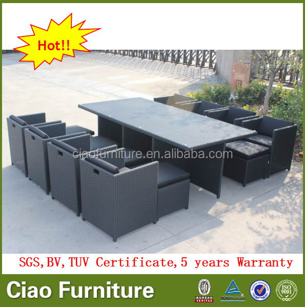 Home garden 8 seater dining furniture cube table and chair