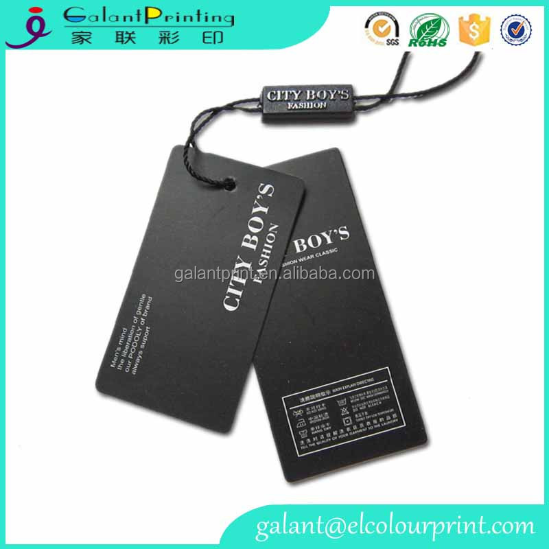 Guangzhou custom printed elastic string price tags for clothes company