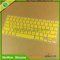 Non-stick different language silicone cover for keyboard