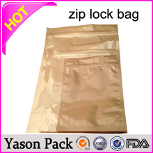 YASON printing mini zipper bag 3grams silver color caution ziplock bag cloud 9 spice smoke foil zipper bags