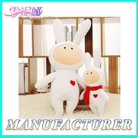 Soft Stuffed Toys Newest Plush White Rabbit For Valentine's Day
