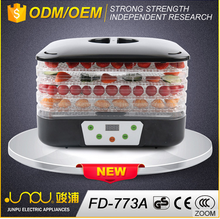 Adjustable temperature home use drying fruit dehydrator machine