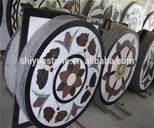 Polished China Water jet Marble Designs Medallions