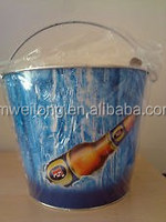 Forest Party Full Color Painting Drinks Cooloer/Party Vodka Container/Zinc Metal Garden Beer Bucket/Pails
