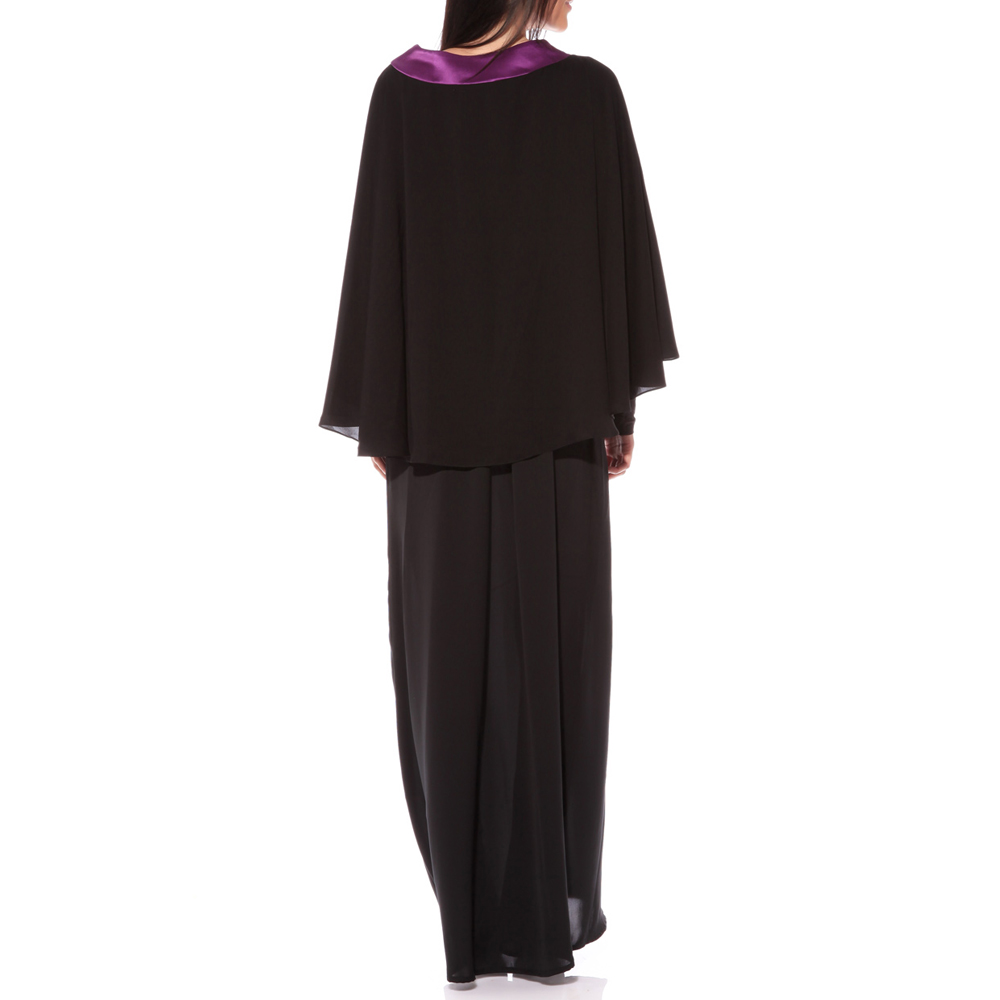 Kyle and Jane Singapore 2 layers chiffion muslim dress simple maxi dress jilbab islamic abaya manufacturer women Muslim