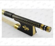 Ti mounted nice decorated carbon fiber violin bow