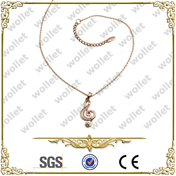 Rose Gold Plated Music Note Stainless Steel korea costume jewelry
