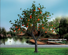 Artificial Persimmon Fruit Light Tree
