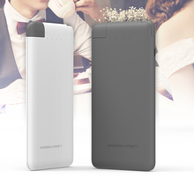 Attached Cable Power Bank Cheap Slim Powerbank 4000 mah with Built-in Cable